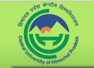 Central University of Himachal Pradesh Dharamshala (Kangra) 1